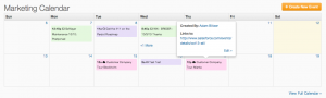 Pardot Marketing Calendar