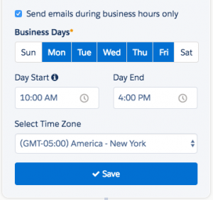 Customize Engagement Studio Business Hours